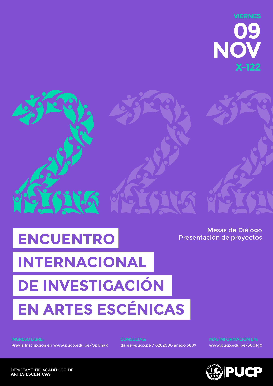 2do Encuentro de Investigación en Artes Escénicas