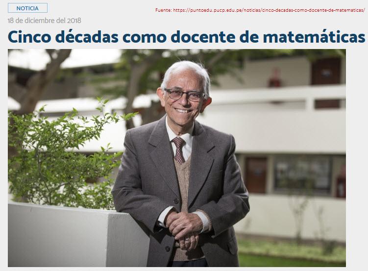Dr. Uldarico Malaspina Jurado: Cinco décadas como docente de matemáticas
