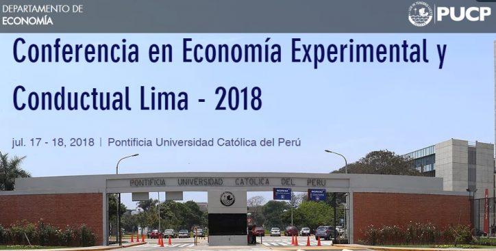 Conferencia en Economía Experimental y Conductual – 2018 PUCP