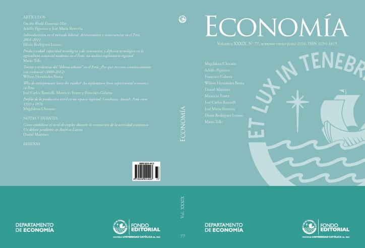 Último número de la revista Economía