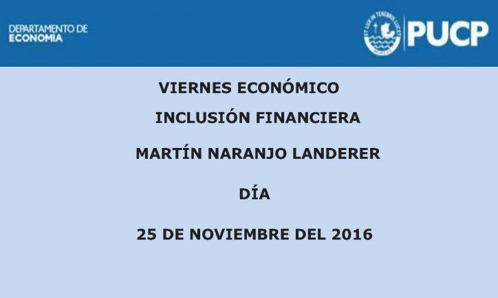 Viernes Económico | Inclusión Financiera