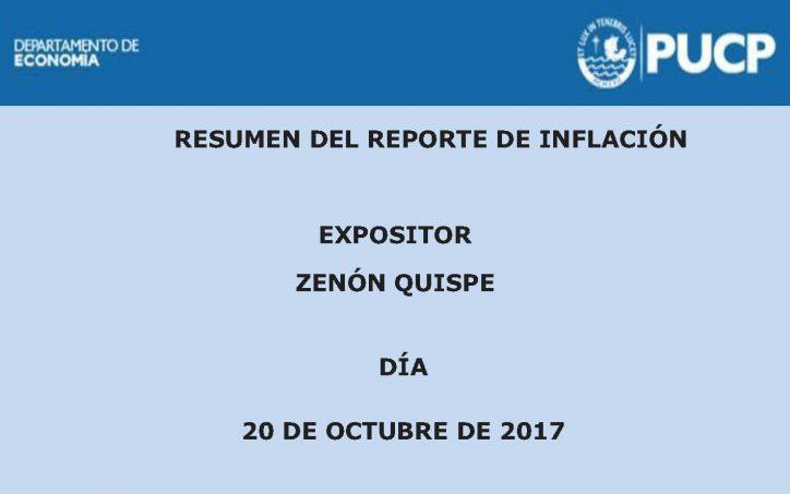 Viernes Económico | Reporte de Inflación. 20 de octubre de 2017.