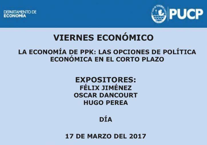 Viernes Económico | La economía de PPK: Las opciones de política económica en el corto plazo.