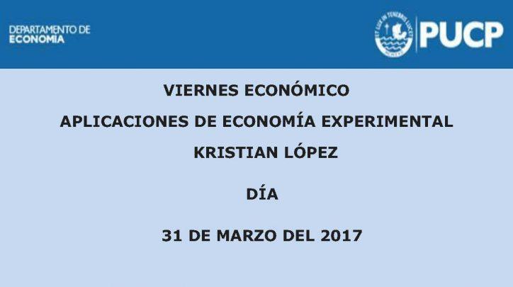 Viernes Económico | Aplicaciones de Economía Experimental