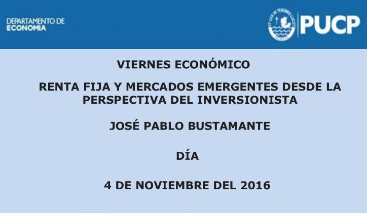 Viernes Económico | Renta fija y Mercados emergentes desde la perspectiva del inversionista.