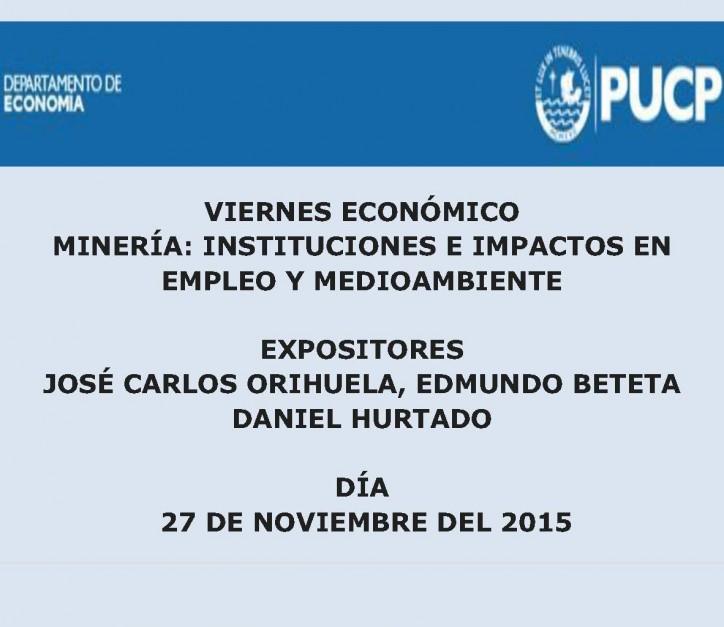 Minería: Instituciones e impactos en empleo y medioambiente