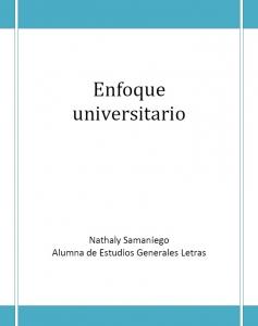 ENFOQUE UNIVERSITARIO