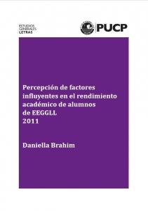 Percepcion de factores en rendimiento academico EEGGLL 2011
