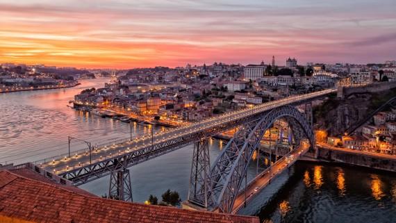 Puente Luis I, Oporto, Portugal.