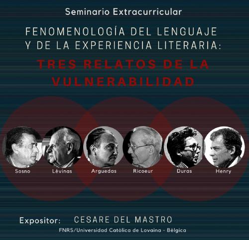 """Seminario extracurricular """"Fenomenología del lenguaje y de la experiencia literaria: tres relatos de la vulnerabilidad"""""""