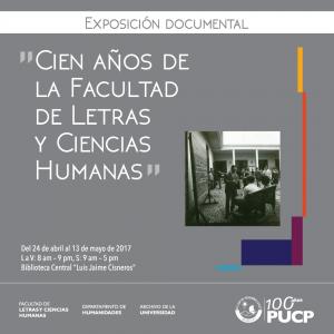 Exposición documental│Cien años de la Facultad de Letras y Ciencias Humanas