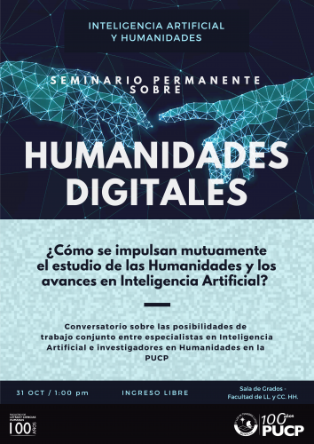 Seminario Permanente sobre Humanidades Digitales. Inteligencia Artificial y Humanidades
