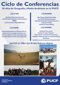 30 años de Geografía y Medio Ambiente en la PUCP
