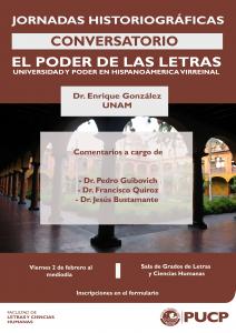 """Conversatorio """"El poder de las letras. Universidad y poder en Hispanoamérica virreinal"""""""