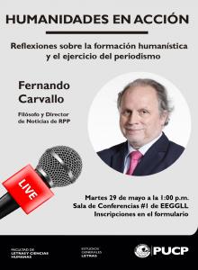 Humanidades en Acción |  Reflexiones sobre la formación humanística y el ejercicio del periodismo