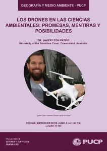 """Ponencia: """"Los drones en las Ciencias Ambientales: promesas, mentiras y posibilidades"""""""