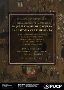 Taller-Seminario | Historia de la mujer y didáctica. La inserción de la temática de la Historia de la mujer en la currícula universitaria. Propuestas y casos