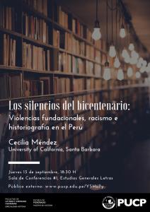 """""""Los silencios del bicentenario: Violencias fundacionales, racismo e historiografía en el Perú"""""""