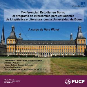 Estudiar en Bonn:el programa de intercambio para estudiantes de Lingüística y Literaturacon laUniversidad de Bonn