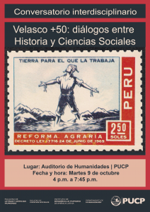 VELASCO +50: DIÁLOGOS ENTRE HISTORIA Y CIENCIAS SOCIALES