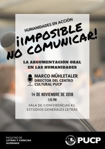 Humanidades en Acción | Imposible no comunicar: la importancia de la argumentación oral en las Humanidades