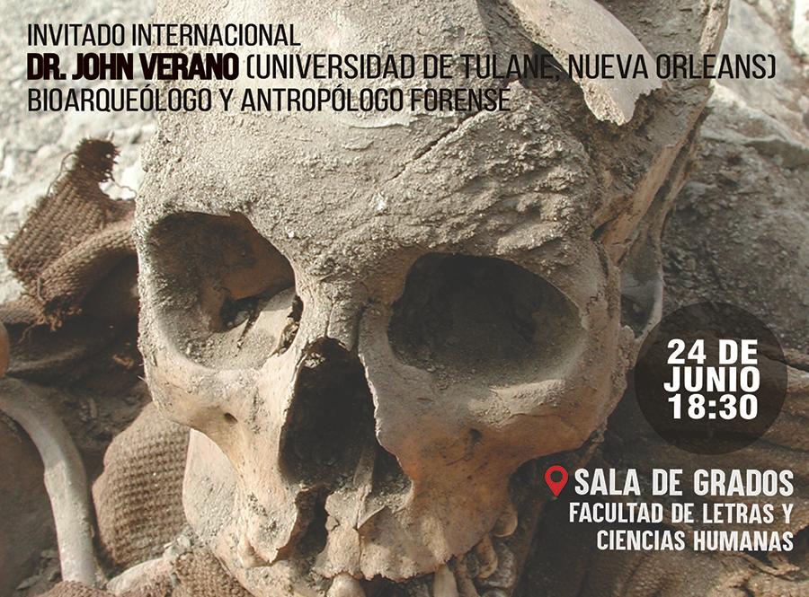 Charla   El testimonio de los huesos: La arqueología y la investigación forense en la búsqueda de personas desaparecidas