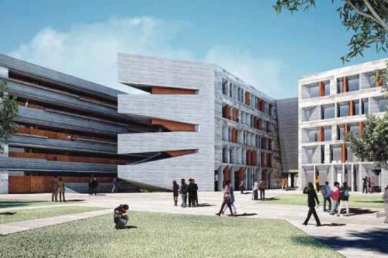 Pucp puntoedu se construir biblioteca y aulario para for Biblioteca arquitectura